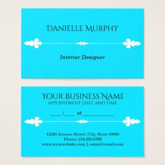 明るい水の青いデザインのアポイントメントカード 名刺