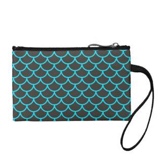 明るい水の青い人魚のスケールパターン コインパース