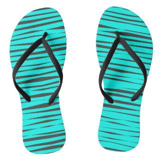 明るい水の青い動物のスタイルパターンビーチサンダル ビーチサンダル