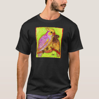 明るい水彩画のオウム Tシャツ