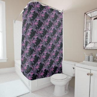 明るい洗練されたペーズリーの花柄パターン シャワーカーテン