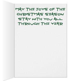 明るい混ぜられた鉛筆のクリスマスツリーカード カード