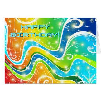 明るい渦巻および色 カード