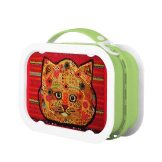 明るい猫が付いているYuboのランチボックス ランチボックス