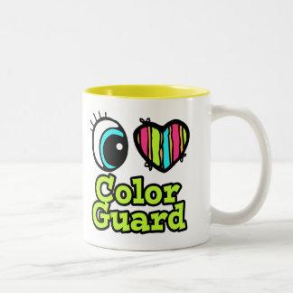 明るい目のハートI愛カラーガード ツートーンマグカップ