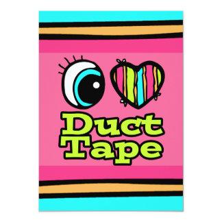 明るい目のハートI愛ガムテープ カード