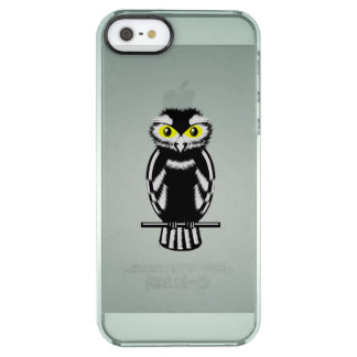 明るい目を持つ白黒フクロウ クリア iPhone SE/5/5sケース