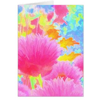 明るい着色されたアサツキの挨拶状 カード