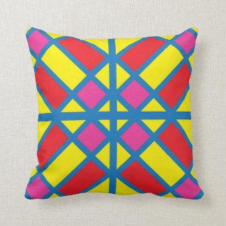 明るい着色されたガラスタイルの枕 クッション
