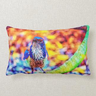 明るい着色された鳥の芸術の枕 ランバークッション