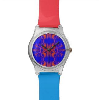 明るい紫系統の抽象芸術 腕時計