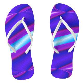 明るい紫色のターコイズのモダンなデザイン ビーチサンダル