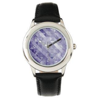 明るい紫色の多角形の子供の腕時計 腕時計