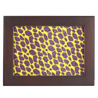 明るい紫色の黄色いチータ ジュエリーボックス
