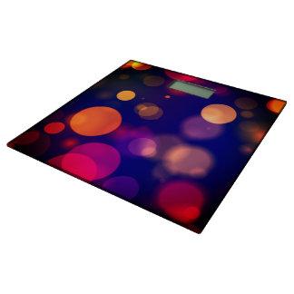 明るい紫色、青い、ピンクの《写真》ぼけ味ライトパターン 体重計