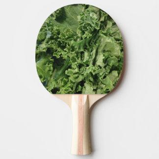 明るい緑葉カンランのビーガンの卓球ラケット 卓球ラケット