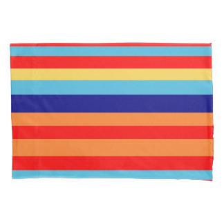 明るい縞で飾ります 枕カバー