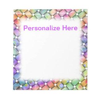 明るい織り方のPersonalizableのメモ帳 ノートパッド