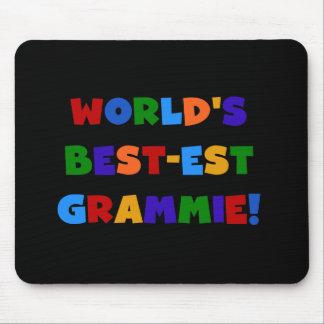明るい色の世界のベスト米国東部標準時刻Grammieのギフト マウスパッド