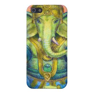 """明るい色の""""はすGanesha""""ヒンズー教象の神 iPhone 5 カバー"""