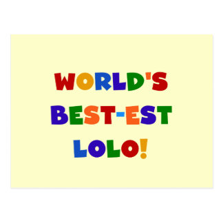 明るい色ベスト米国東部標準時刻LoloのTシャツおよびギフト ポストカード