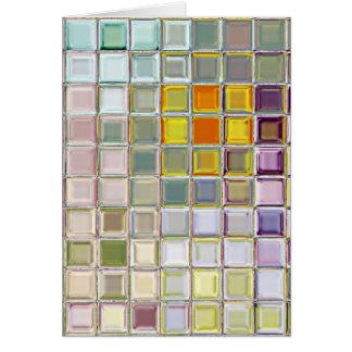 明るい花のガラスモザイク・タイルのカスタム・カード カード