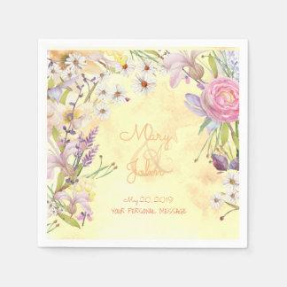 明るい花の束のナプキン スタンダードカクテルナプキン