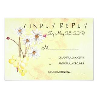 明るい花の束RSVP 8.9 X 12.7 インビテーションカード