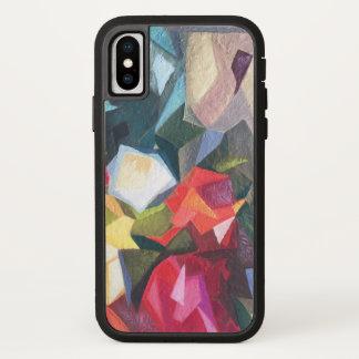 明るい花柄の抽象芸術の電話箱2 iPhone X ケース