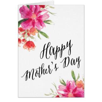 明るい花柄|の母の日カード グリーティングカード