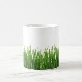 明るい若草色の草の写真のプリント コーヒーマグカップ