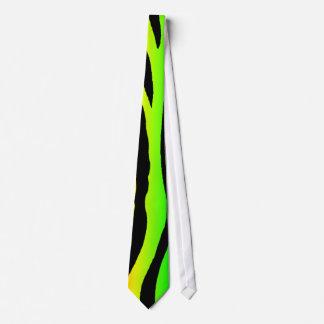 明るい虹のシマウマは縞で飾ります ネクタイ
