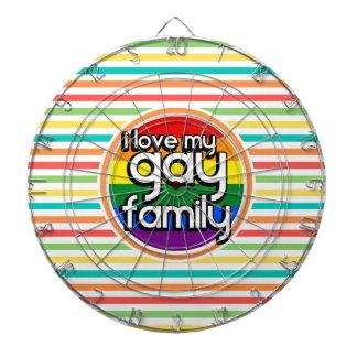 明るい虹のストライプ、陽気な家族 ダーツボード