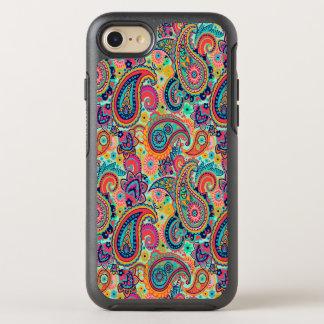明るい虹のペイズリー オッターボックスシンメトリーiPhone 8/7 ケース
