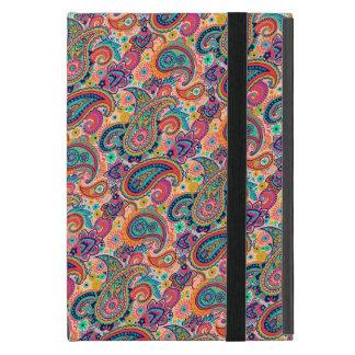 明るい虹のペイズリー iPad MINI ケース
