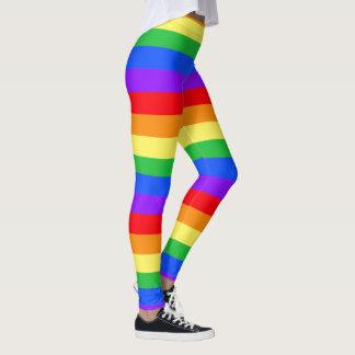 明るい虹のレギンス レギンス