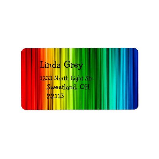 明るい虹の宛名ラベル ラベル