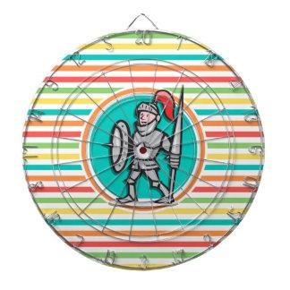 明るい虹の騎士は縞で飾ります ダーツボード