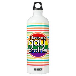 明るい虹は縞で飾ります; 陽気な兄弟 ウォーターボトル
