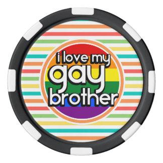 明るい虹は縞で飾ります; 陽気な兄弟 ポーカーチップ