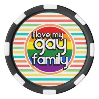 明るい虹は、陽気な家族縞で飾ります ポーカーチップ