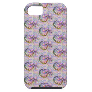 明るい虹色のフラクタルのオウムガイの合成物の芸術 iPhone SE/5/5s ケース