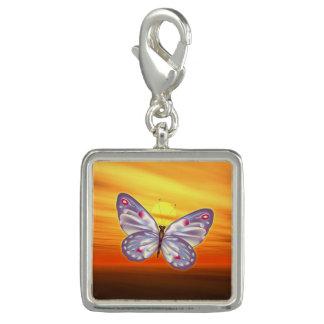 明るい蝶 チャーム