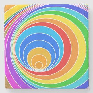 明るい螺線形渦の抽象芸術 ストーンコースター
