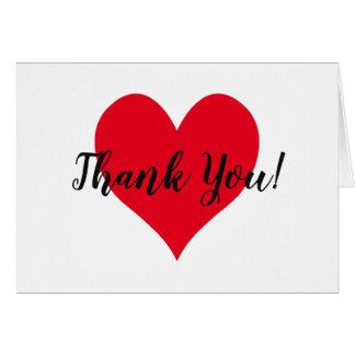 明るい赤いハートは感謝していしています カード