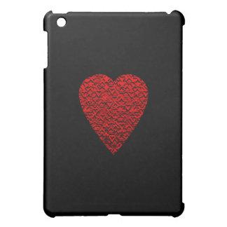 明るい赤いハート映像 iPad MINIケース