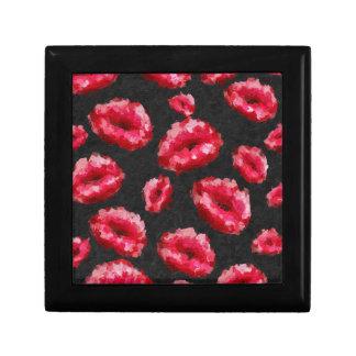 明るい赤の抽象芸術の唇 ギフトボックス