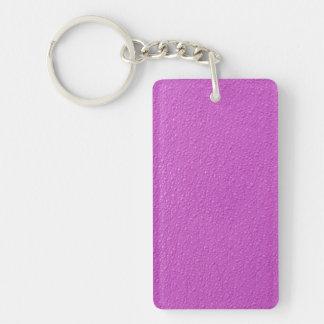 明るい赤紫のネオン粋な色 キーホルダー