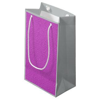 明るい赤紫のネオン粋な色 スモールペーパーバッグ
