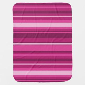 明るい赤紫色は縞で飾ります ベビー ブランケット